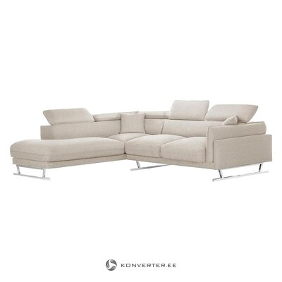 Beige large corner sofa (l'officiel interiors) (box, whole)