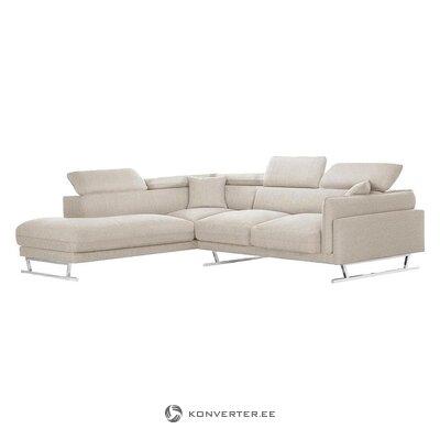 """Smėlio spalvos didelė kampinė sofa (""""l'officiel"""" interjeras) (dėžutė, visa)"""