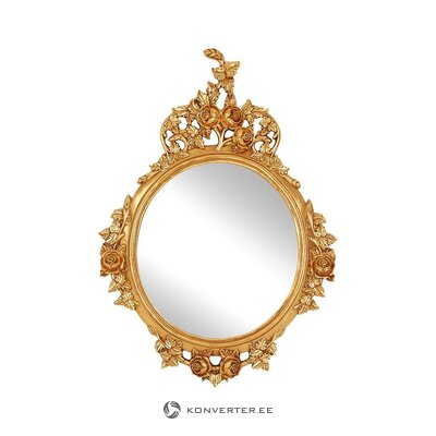 Golden wall mirror (premier housewares)