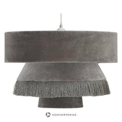 Pelēka samta griestu lampa (mājas) (vesela, kastē)