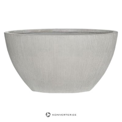 Gray flowerpot (sample, whole)