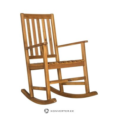 Gray solid wood rocking chair (safavieh) (with beauty defects., Hall sample)