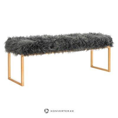 Tummanharmaa-kultainen penkki (safavieh) (kokonainen, laatikossa)