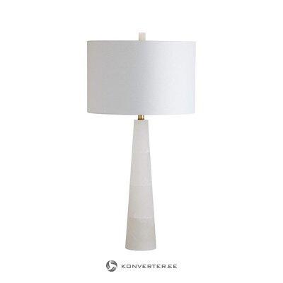 Лампа настольная белая (safavieh) (образец зала, целиком)