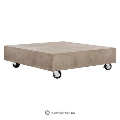 Low coffee table with wheels (safavieh) (whole, in box)