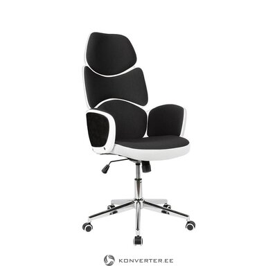 Black and white office chair (skyport) (whole, in box)