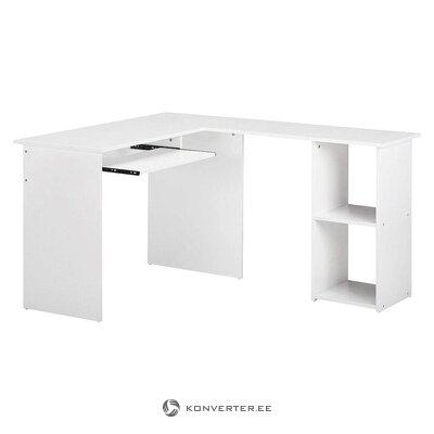 Белый угловой столик (горло) (целый, в коробке)