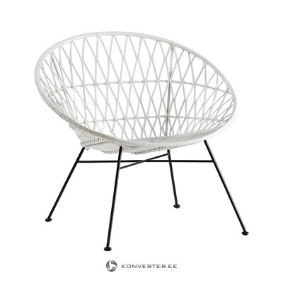Balti-melns dizaina krēsls (taju natura) (vesels, kastē)