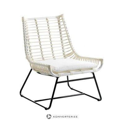 Baltai juoda sodo kėdė (tajų natura) (salės pavyzdys, sveikas)