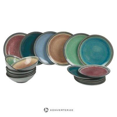 Krāsains virtuves piederumu komplekts 18 gab. (Vilnas dēste) (vesels, kastē)