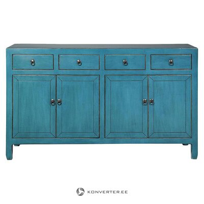 Blue-green chest of drawers (novita) (whole, in a box)