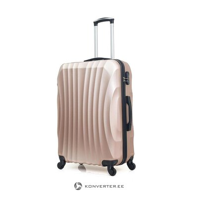 Средне-розовый чемодан московский (герой) (целиком, в коробке)