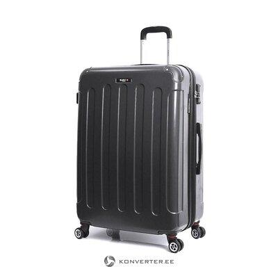 Keskikokoinen musta matkalaukku tonnikalassa (bluestar) (kokonainen, laatikossa)