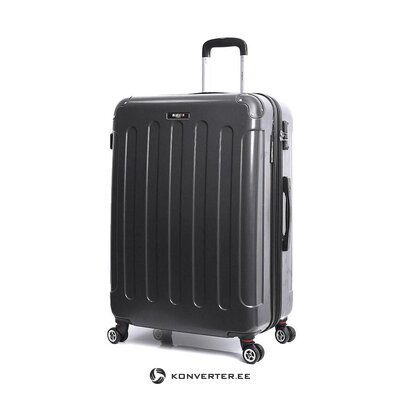 Medium black suitcase in tuna (bluestar) (whole, sample)