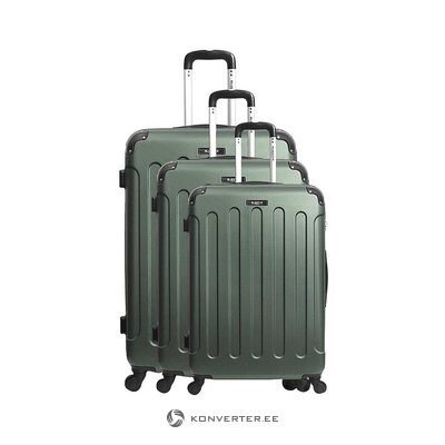 Green medium suitcase madrid (bluestar) (whole, hall sample)