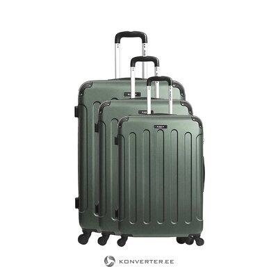 Žalias vidutinio dydžio lagaminas madrid (bluestar) (visas, salės pavyzdys)