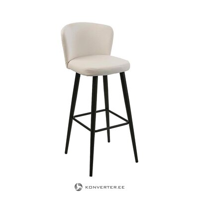 White-black bar stool (versa) (with beauty defects., Hall sample)