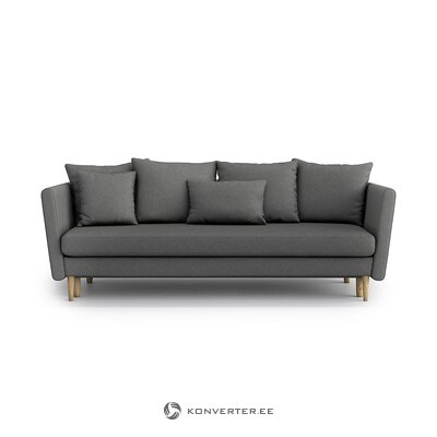 Gray sofa bed (optisofa) (hall sample, whole)
