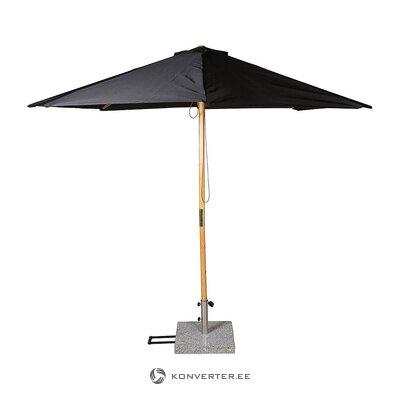Juodai rudas skėtis (įmonės dizainas) (visas, dėžutėje)