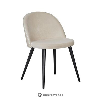 White-black velvet chair (venture design) (whole, hall sample)