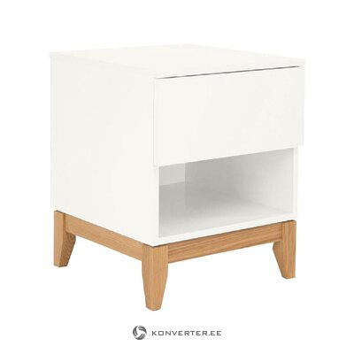 White nightstand (woodman) (whole, in a box)