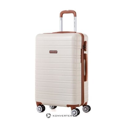 Beige-brown suitcase (pierre cardin) (whole, sample of the hall)