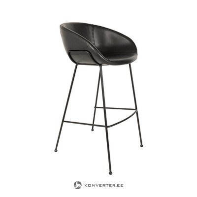 Black bar stool (zuiver) (whole, hall sample)