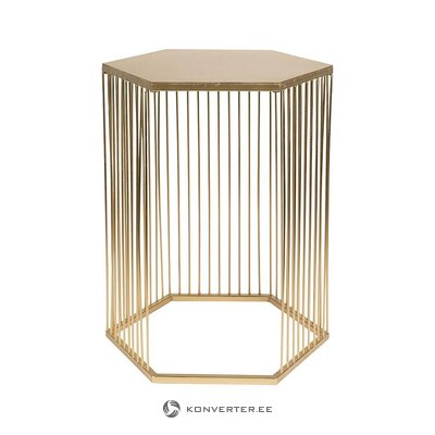 Golden coffee table (zuiver) (whole, hall sample)
