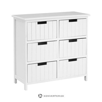 White chest of drawers (premier housewares)