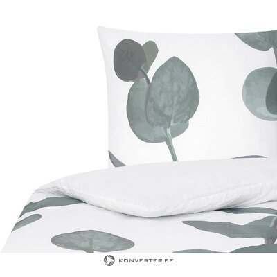 White-green bedding set (percale) (whole, in a box)