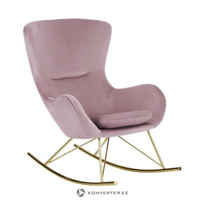 Pink velvet rocking chair (wing)
