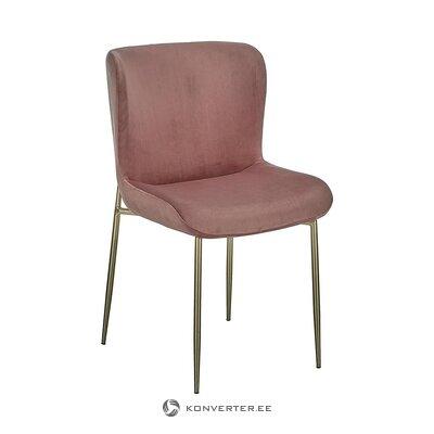 Rozā-zelta samta krēsls (tess) (vesels, kastē)