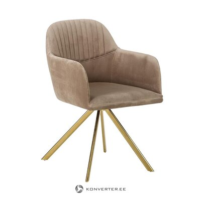 Purple-gold swivel chair (lola)