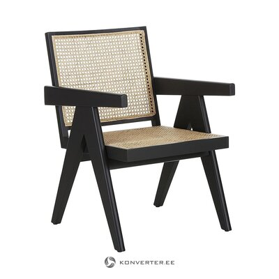 Bēšs-melns dizaina krēsls (partizāns) (vesels, zāles paraugs)