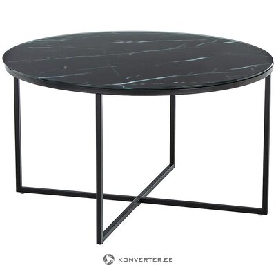 Black-gray marble imitation coffee table (antigua)