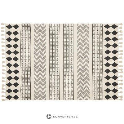 Krēmīgi balts-melns paklājs (ella)