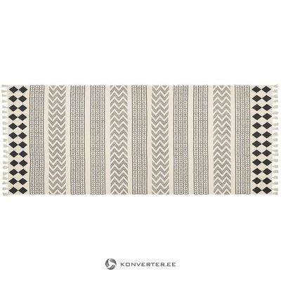 Кремовый черный ковер (edna) (в коробке, целиком)