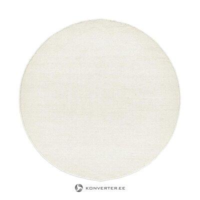 Baltas apvalus kilimas (amaro) (dėžutėje, visas)