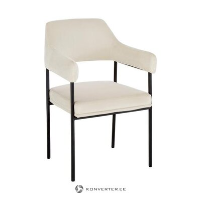 Krēmkrāsas balts krēsls (zoe)