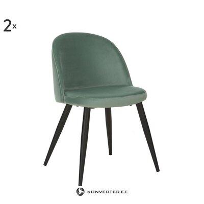 Pelēks samta krēsls Amy (Anderson) (veselīgs)