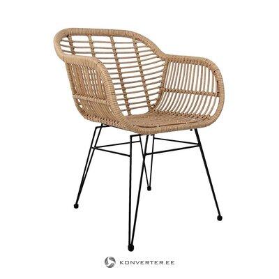 Smėlio-juoda sodo kėdė (costa) (salės pavyzdys, visas)