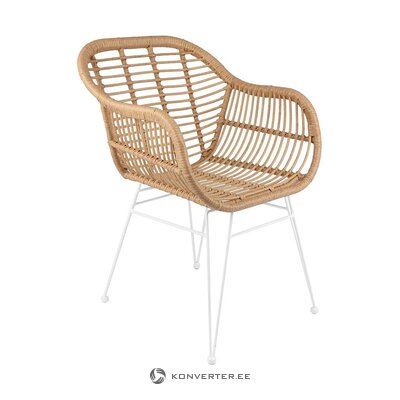 Brown and white garden chair (costa) (with beauty defect, hall sample)
