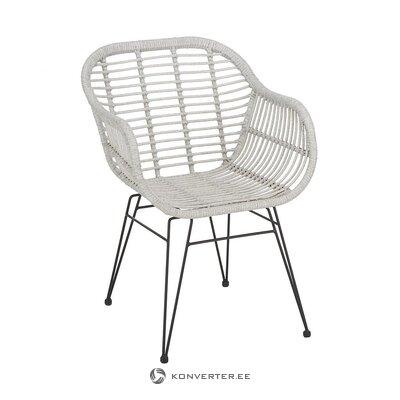 Садовый стул светло-серо-черный (коста) (с дефектом красоты, образец холла)
