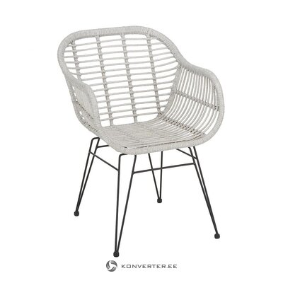 Light gray-black garden chair (costa) (whole, in box)