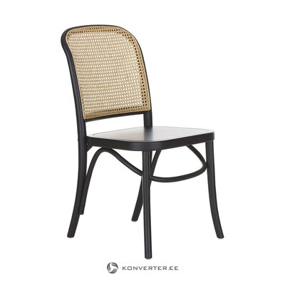 Black-brown chair (franz) (whole, hall sample)