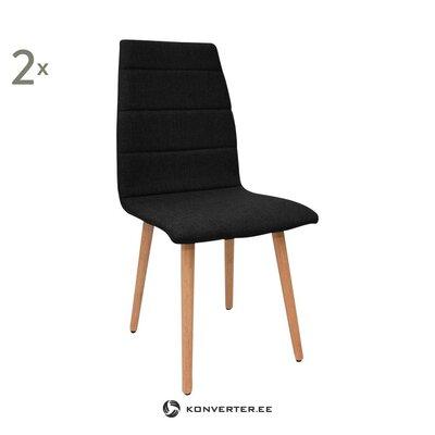 Черно-коричневый стул мари (прл) (холл пробы мелкие недоработки)