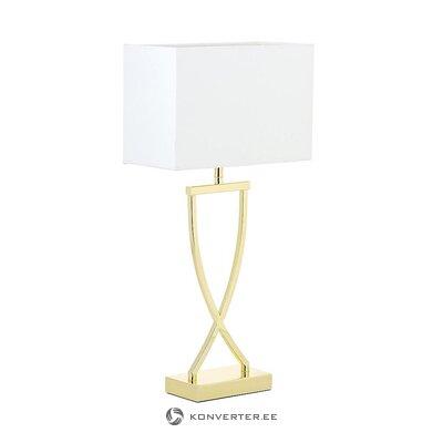 Настольная лампа бело-золотая (порт репутация) (в ящике)
