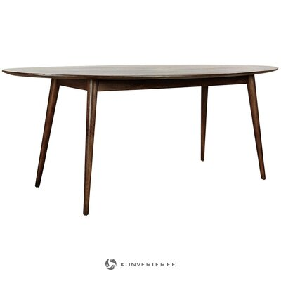 Dark brown mango dining table (anderson) (whole, in a box)