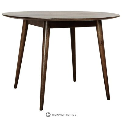 Round solid wood dining table (anderson) (whole, hall sample)