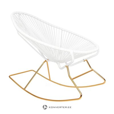 White-gold rocking chair (grace)